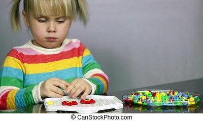zagadka, dziecko, gra, interpretacja