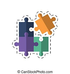 zagadka, wizerunek, handlowy, rozłączenie