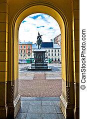 Zagreb central square arcade view