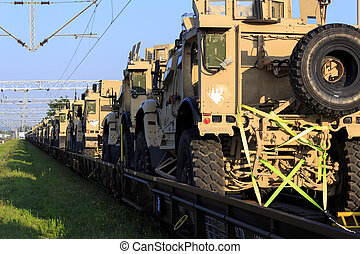 American military vehicles MRAP