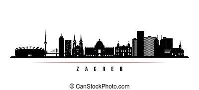 Zagreb skyline horizontal banner.