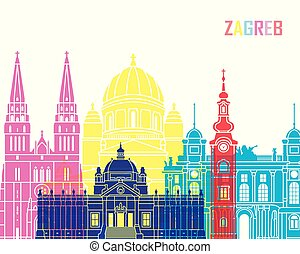 Zagreb skyline pop