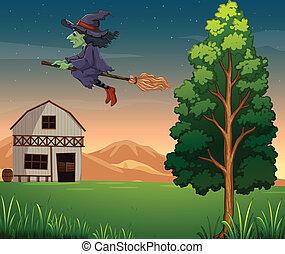 zagroda, czarownica