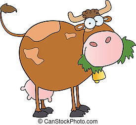 zagroda, mleczarnia, litera, rysunek, krowa