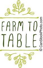 zagroda, stół, -, biały, etykieta, produkt, tło.
