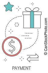 zahlung, concept., kaufen, in, internet, und, bezahlung, online