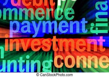zahlung, investieren