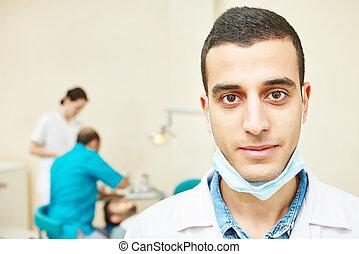 zahnarzt, asiatisch, junger doktor