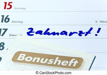 Zahnarzt Bonusheft - German dentist booklet and timer with ...
