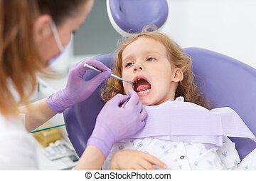 zahnarzt, patient, pädiatrisch
