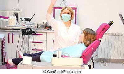 zahnarzt, untersucht, z�hne