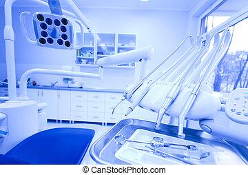 zahnarztbesuch, ausrüstung