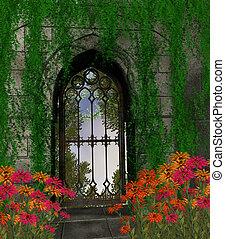 zahrada, grafické pozadí