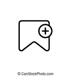 zakładka, kreska, cienki, ikona