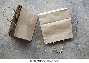 zak, ambacht, papier, shoppen