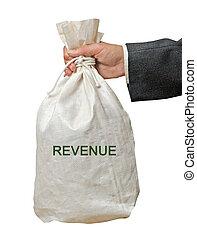 zak, met, inkomsten