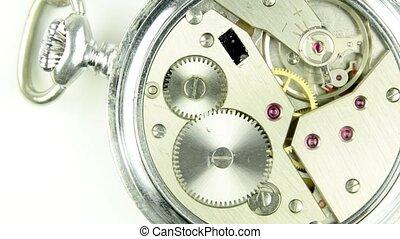 zak, monteurs, horloge