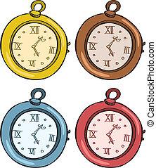 zak, ouderwetse , horloge