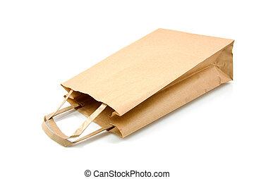 zak, papier, shoppen , lege