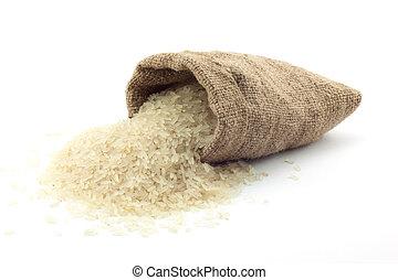 zak, rijst, kleine