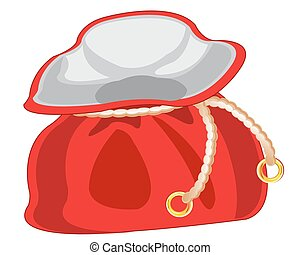 zak, wit rood, achtergrond