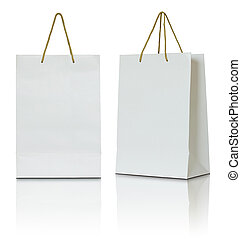 zak, witte , papier, achtergrond