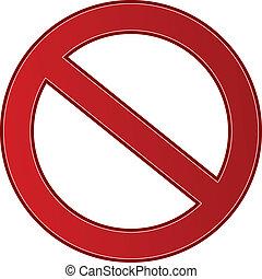 zakaz, znak