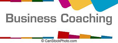 zakelijk, abstract, kleurrijke, coachend, achtergrond