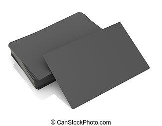 zakelijk, achtergrond., black , kaarten, witte , stapel