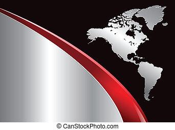zakelijk, achtergrond, met, wereldkaart