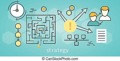 zakelijk, achtergrond, strategie