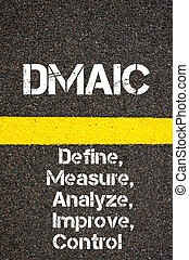 zakelijk, acroniem, dmaic, definiëren, maatregel, analyseren, verbeteren, en, controle