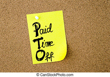 zakelijk, acroniem, pto, betaald, tijd weg