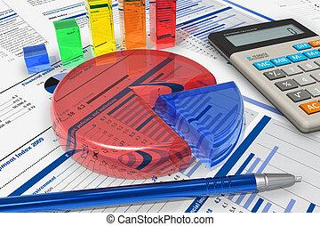 zakelijk, analytics, concept