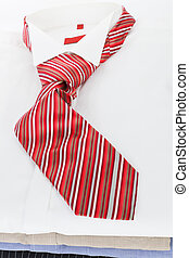 zakelijk, clothing., hemd, tie., jurkje