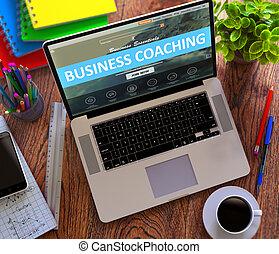 zakelijk, coaching., concept., kantoor, werkende