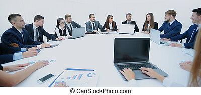 zakelijk, discussie, presentation., conventie, tafel, ronde
