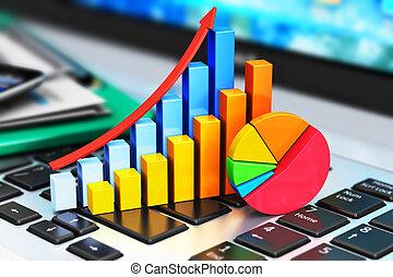 zakelijk, financiën, en, boekhouding, concept