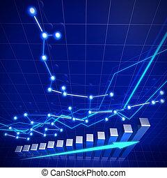 zakelijk, financieel net, groei, concept