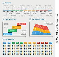 zakelijk, infographics, diagrammen