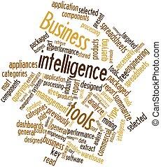 zakelijk, intelligentie, gereedschap