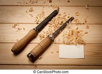 zakelijk, joinery, hout, achtergrond, tafel, gereedschap, ...