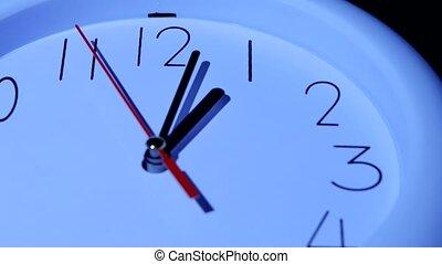 zakelijk, klok, closeup, op wit, achtergrond