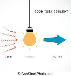 zakelijk, licht, concept., idee, creatief, bol, opleiding