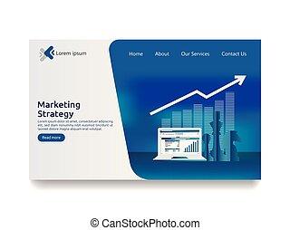 zakelijk, marketing, strategie, spreadsheet, op, screen., financiën, analyse, controle, met, grafieken, charts., rendement van investering, roi, concept., verhogen, winst, stretching, opstand, boven., web, tussenverdieping, pagina, mal