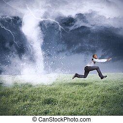 zakelijk, storm