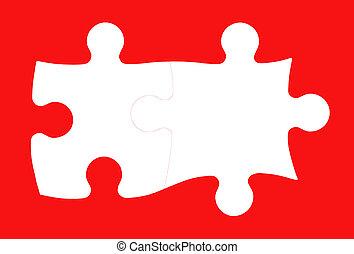zakelijk, teamwork, concept, integratie, raadsel