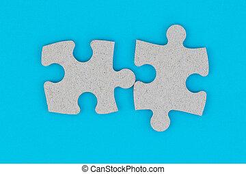 zakelijk, teamwork, integratie, concept, raadsel