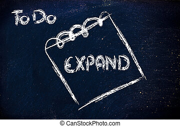 zakelijk, veeleisend, uitbreiding, boodschap, op,...