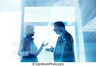 zaken partners, het op elkaar inwerken